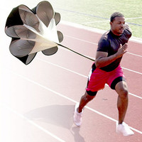 "56"" Speed Resistance Running Training Parachute Running Chute Football Exercise + Bag Increase Speed Soccer Equipment"