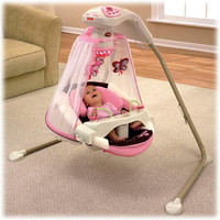 Fisher-Price Mocha Butterfly Cradle 'n Swing