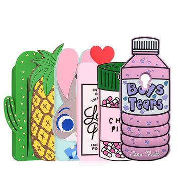 "3D Boys Tears Love Potion Chill Pills Silicone Case For Meizu M3 Note / Meilan Note 3  5.5"" Case Pineapple Cactus Soft Cover"