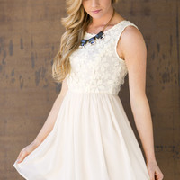 Crème De La Crème Lace Dress