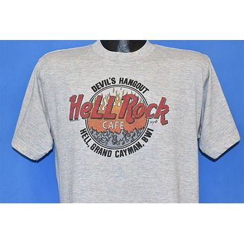 90s Hell Hard Rock Cafe Devil's Hangout Funny t-shirt Large