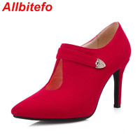 Plus size EU 33-43,fashion sexy women pumps new spring ladies high heel shoes woman wedding party red pumps femme chaussure