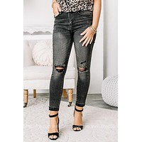 Yaass Girl High Waisted Ankle Skinny Jeans