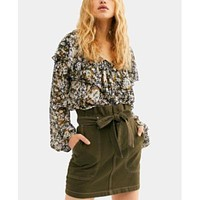 Free People Splendor in the Grass Skirt For Women  ARMY /12