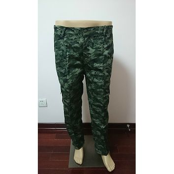 Casual Mens Military Army Camo Camouflage Combat Work Trousers Pants Woodland