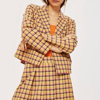 Yellow Check Suit | Topshop