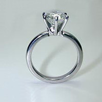 0.15ct H-SI1 Diamond Engagement Ring 18kt white Gold EGL certified