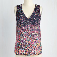 Mid-length Sleeveless Party Favorite Top
