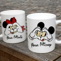 Your Minnie And Your Mickey  Couple Mugs Ceramic Gift Mugs Gift Idea