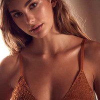 Out From Under Sabrina Burnout Velvet Bra - Urban Outfitters