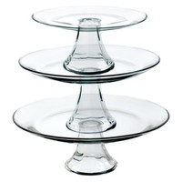 Tiered Pedestal Serving Plates - Set of 3