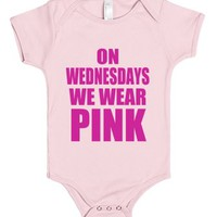On Wednesdays We Wear Pink - Baby Onsie-Light Pink Baby Onesuit 00