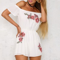 Slice Of Life Playsuit White
