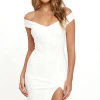 Bless'ed Are the Meek Mohawk White Bodycon Dress