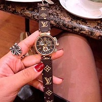 LV Louis Vuitton Popular Women Men More Print Multicolor Watches Wrist Watch-1