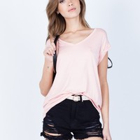 Cuffed Sleeves Tee