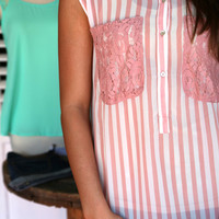 Lacy Pocket Top