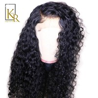 Cool Curly Full Lace Human Hair Wigs Pre Plucked Brazilian Remy Full Lace Wigs For Women Bleached Knots With Baby Hair Make 360 BunAT_93_12