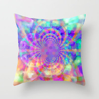 Color Explosion Throw Pillow by Laura Santeler