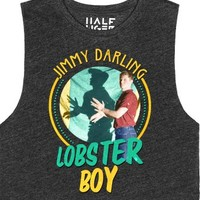 Jimmy Darling: Lobster Boy-Female Heather Onyx T-Shirt