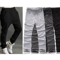 Men Casual Sporty Hip Hop Dance Harem Baggy Sport Sweat Pants Trousers Slacks