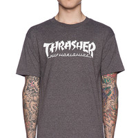 Huf x Thrasher Asia Tour Tee in Charcoal