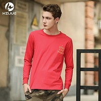 HZIJUE new mens hip hip style i feel like pablo kanye long sleeve casual tops tee shirt long sleeve hiphop t shirt for men