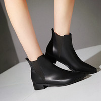 Pu Ankle Boots Women Shoes New Arrival