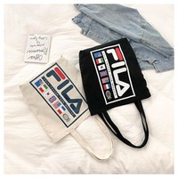 FILA casual canvas should bag for women