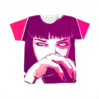 Pulp Fiction Mia Wallace Print front and back.