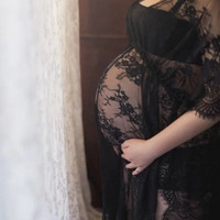 Beautiful Lace Cover-up & Maternity Pregnancy Photography Prop