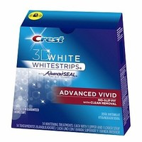 Crest 3d White Advanced Vivid Teeth Whitening Strips (Pack of 2)