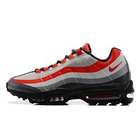 NIKE AIR MAX 95 ULTRA ESSENTIAL Black White Gray Red