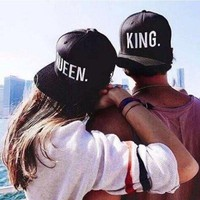 Trendy Winter Jacket 1PC Lovers Snapback Unisex Fashion Women Hats Adjustable QUEEN Men Hip Hop Baseball Cap Clothing Accessories KING Embroider AT_92_12