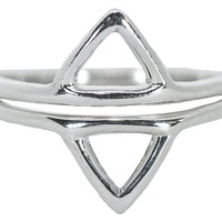 Opposing Triangle Ring