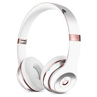 Gold Foiled White v3 Full-Body Skin Kit for the Beats by Dre Solo 3 Wireless Headphones