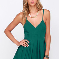 The Thought of You Teal Romper