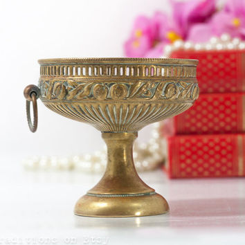 Business Card Holder: Ancient Greek Style Brass Pedestal Card Display, Business Card Stand, Gift for Her