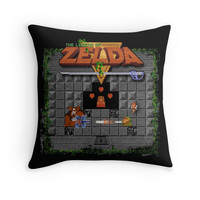 'The Zelda of Legend' Throw Pillow by likelikes