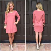 Multi Task Jersey Dress in Salmon