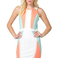 Colorblock Contour Sheath Dress