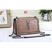 YSL Fashion Lady Gradient Stone Single Shoulder Bag Shopping Bag #3