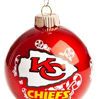 Kansas City Chiefs Traditional Wrap Print Holiday Ornament