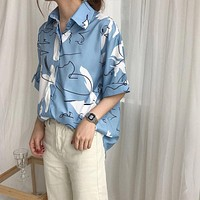 Abstract Waves Button Down