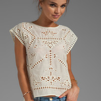 Greylin Bianca Embroidered Top in Ivory from REVOLVEclothing.com