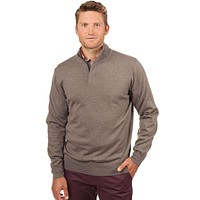 Captains 1/4 Zip Sweater in Driftwood Khaki by Southern Tide