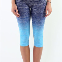 Ombré Yoga Crop Leggings