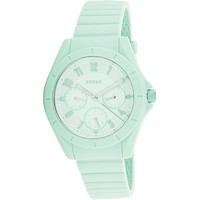 Fossil Women's Poptastic ES4188 Green Rubber Japanese Quartz Fashion Watch