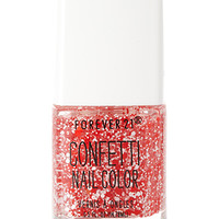 FOREVER 21 Red Dream Confetti Nail Polish Red/White One
