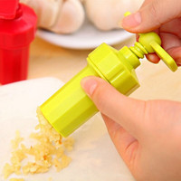 Plastic Garlic Press Crusher Masher Home Kitchen Slicer Squeezer Cleaning Tool Home